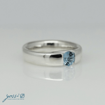 Glowing Blue Topaz Ring