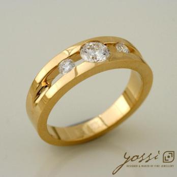 Attract Handmade Diamond Trilogy Engagement Ring