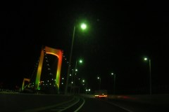 Rainbow Bridge (Tokyo) in rainbow color