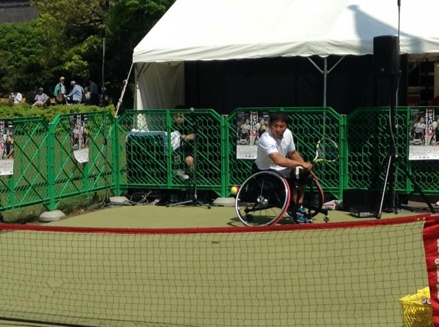 車椅子テニス デモンストレーション