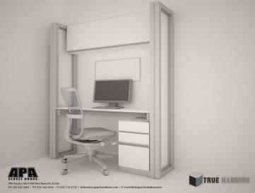 3D Render/Desk Station Detail