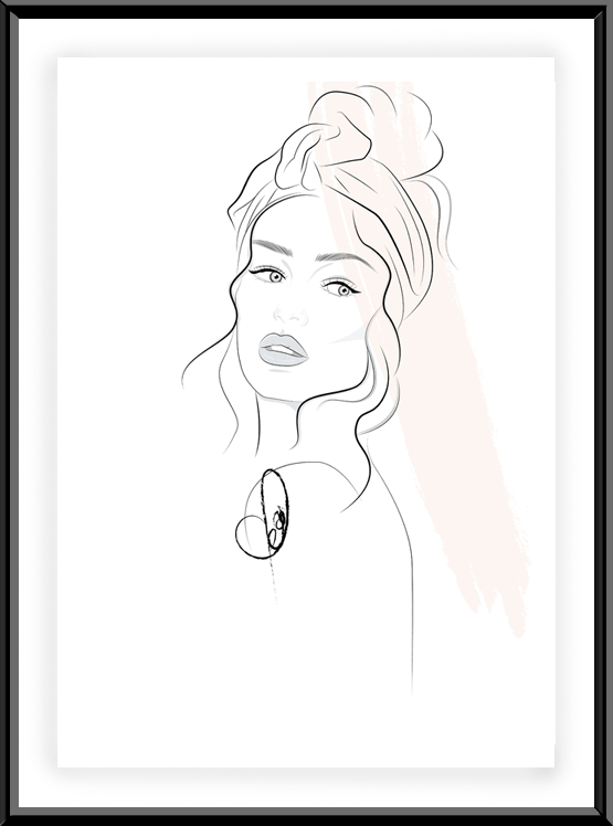 Fashion Illustration Beautiful Stranger