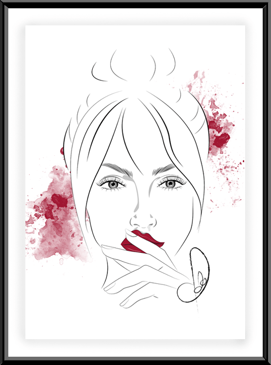 Beauty Illustration Chery Red