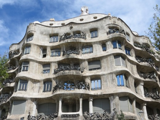 Casa Milà, a Gaudi Building, Barcelona, Spain