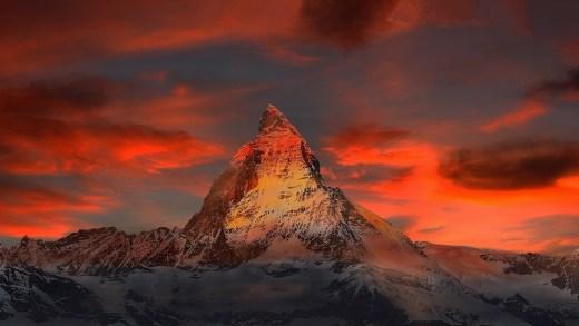 The Matterhorn, near Zermatt, Switzerland