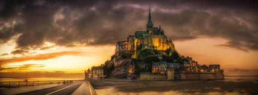 Mont-Saint-Michel, Normandy, France.
