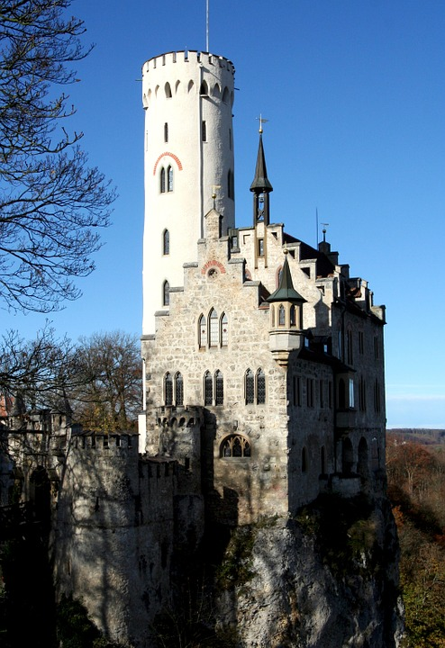 Lichtenstein Castle, Honau, Reutlingen, Baden-Württemberg, Germany