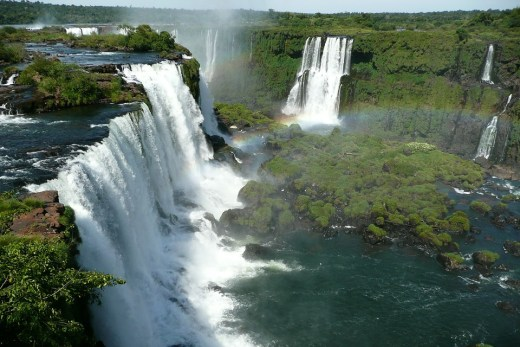 The Iguazu Falls at the border of the Argentina and Brazil