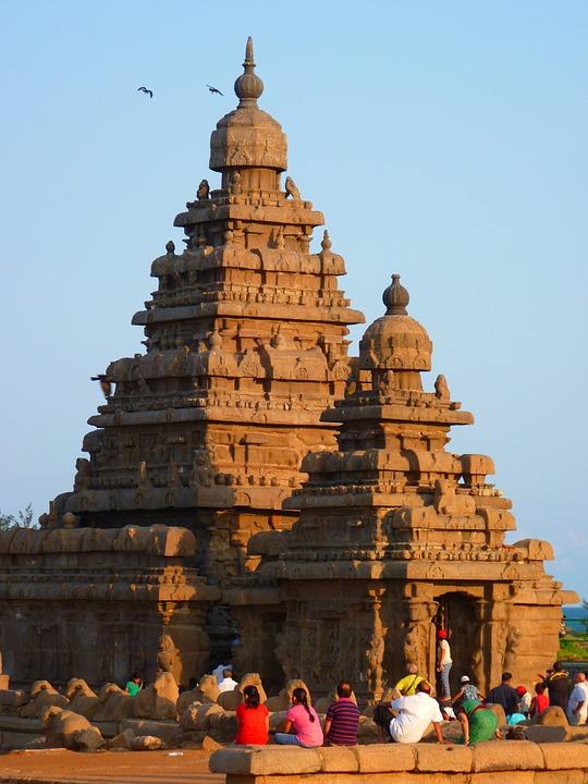 The Shore Temple in Mahabalipuram, Indian