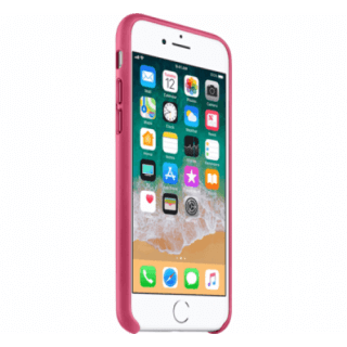 Iphone 7/8 Leather Pink Side/Front Case