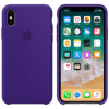 Iphone X Silicone Purple Back/Front Case