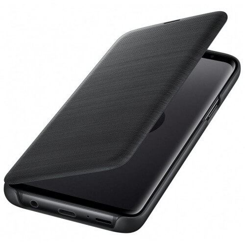 S9 View cover Black Front/Side Case