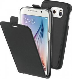 BeHello 2 in 1 Flip Case voor Samsung Galaxy S6 – Zwart