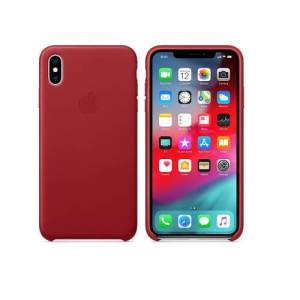 Apple Lederen Back Cover voor iPhone XS Max – Rood