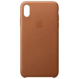 Apple Lederen Back Cover voor iPhone Xs Max – Bruin
