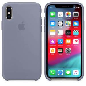 Apple iPhone XS Max Siliconen Case – Grijs