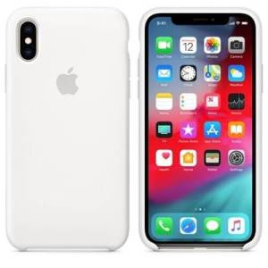 Apple iPhone X/XS Siliconen Case Wit