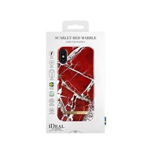 iDeal of Sweden iPhone X Fashion Back Case Scarlet Red Marble