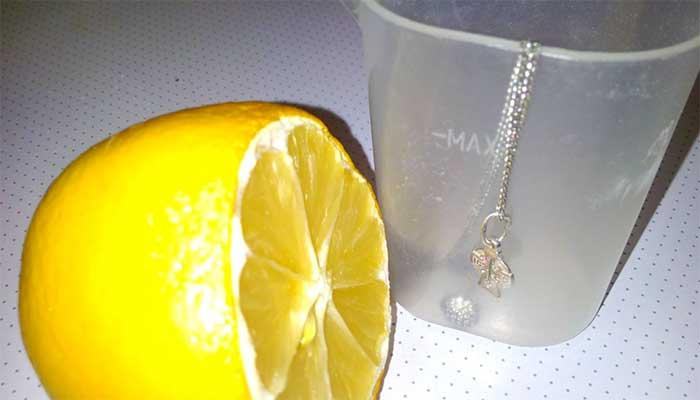 Лимон күмісін тазарту