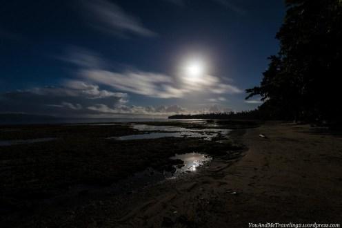 pulau saparua indonesia maluku moon night beach