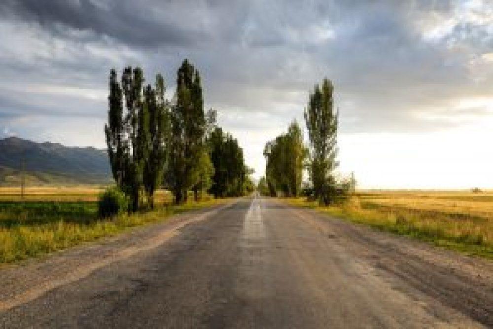 The main road to Karakol