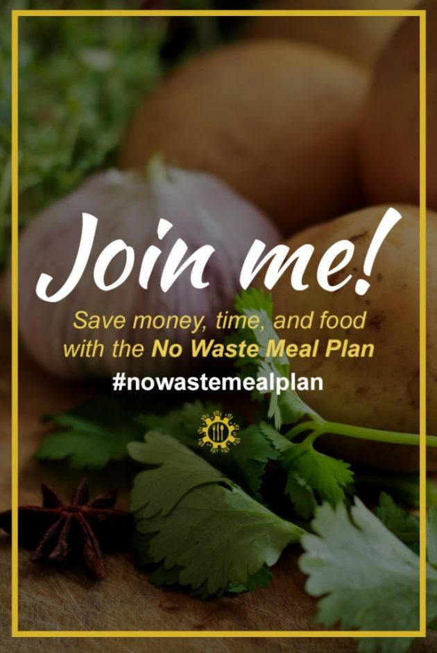 No Waste Meal Plan: Join Me