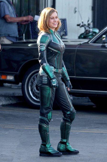Eerste kijk achter de schermen op Brie Larson als Captain Marvel