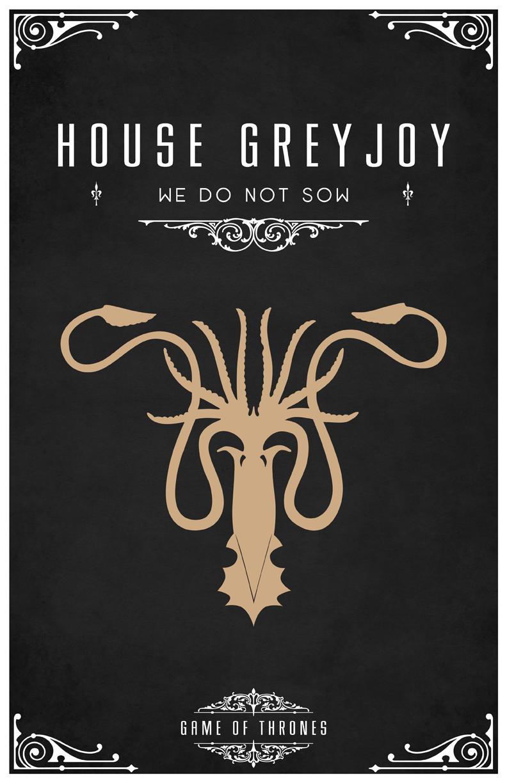 Tom Gateleys Beautiful Minimalist Game Of Thrones House Posters YouBentMyWookie