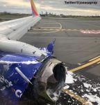 Взрыв двигателя самолета Southwest Airlines : Один человек погиб