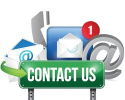 21505875 - contact us sign and concept illustration design over white