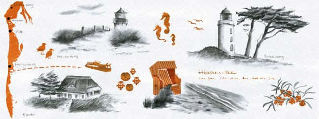 Hiddensee illustration by youdesignme