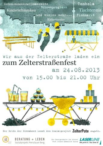 illustration plakat _straßenfest zelter pate_youdesignme