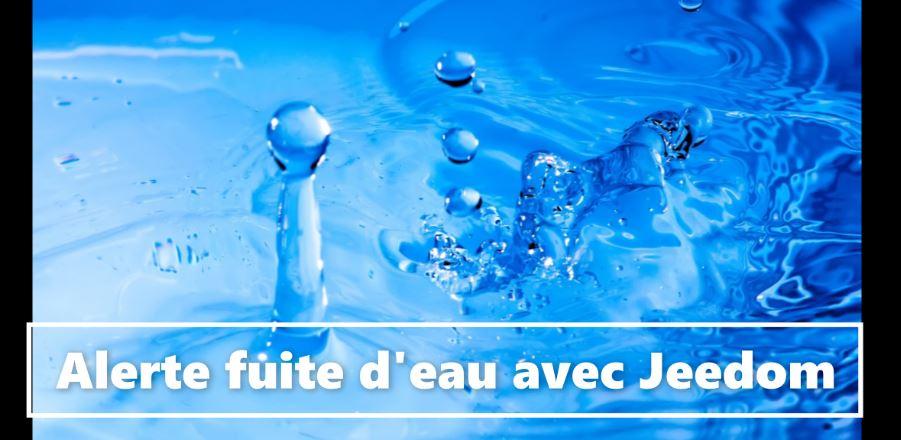 Alerte fuite d'eau avec Jeedom