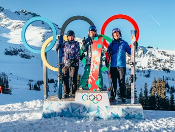 Olympic rings at whistler blackcomb