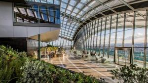 Interior of Sky Garden in London