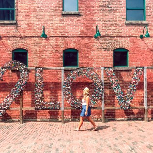 Love locks at distillery district Budget Travel Guide To Toronto