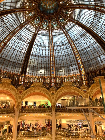 Galerie Lafayette budget travel to paris