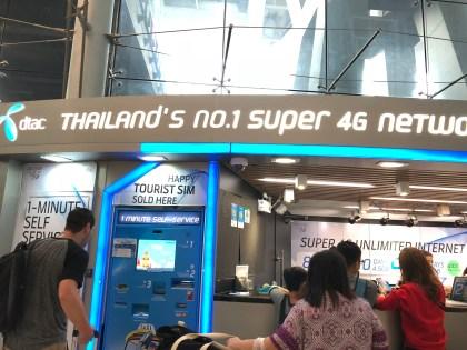 How to buy your sim card at bangkok airport