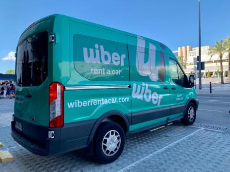 Wiber car rental shuttle service at mallorca airport
