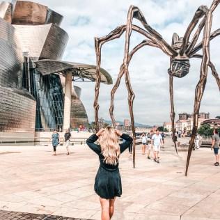 Guggenheim museum spider bilbao