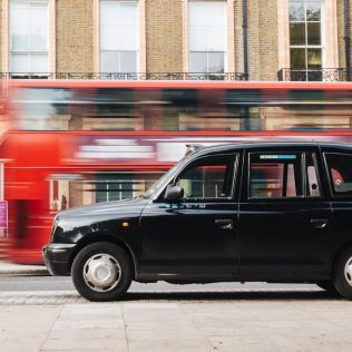 black cab in london