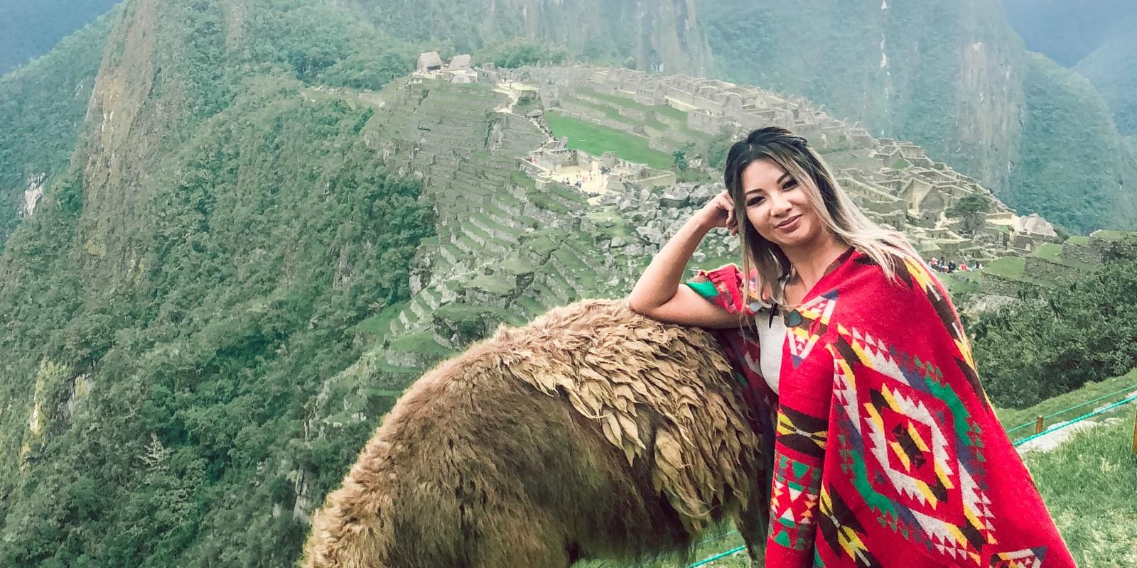 jenny chu and alpaca machu picchu