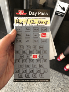 public transportation day pass in toronto