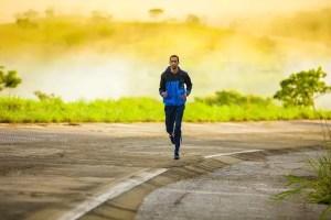 Runner running - Blue Majik helps athletes and runners