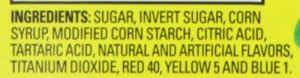 Sour Patch Watermelon Ingredients no gelatin