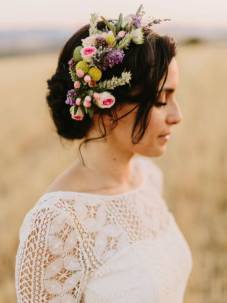 Wedding Hair With Flowers Amp Jewels Bridal Up Do With