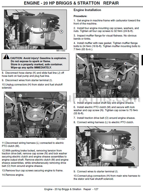 John Deere L100 Belt Diagram : deere, diagram, Deere, Repair, Manual, [Lawn, Garden, Tractor], YouFixThis