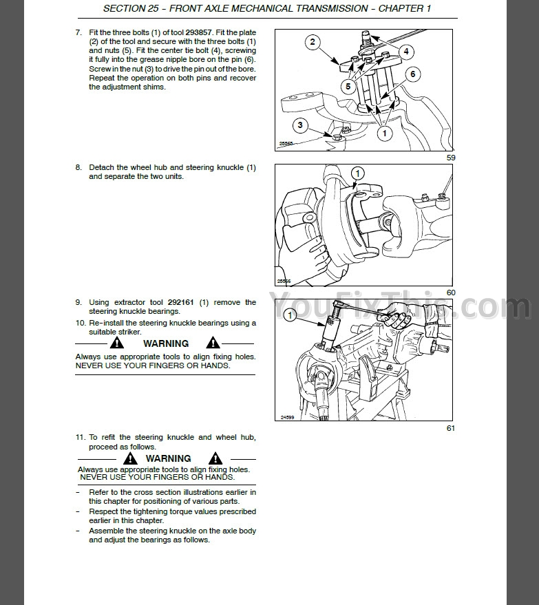 New Holland T1510 T1520 Repair Manual  Tractor   U2013 Youfixthis