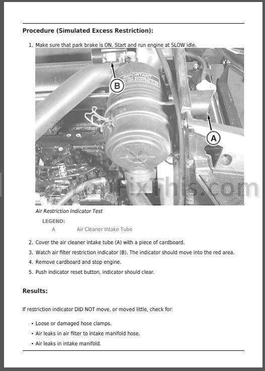 John Deere E R R Repair Manual Compact
