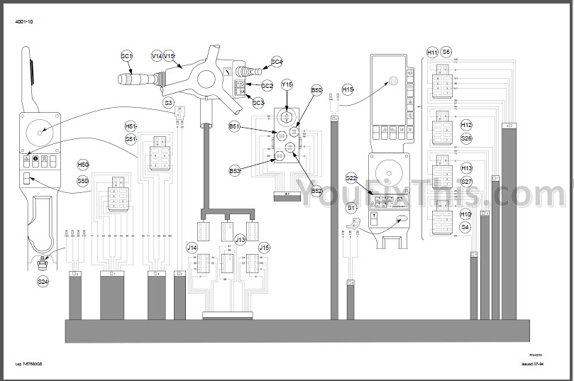 Case 1188 Manual Schematic Set [Excavator]